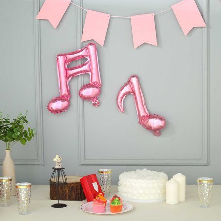 Efavormart 6 Pack 16th & 8th Musical Notes Aluminum Foil Mylar Balloon](Musical Note Cutouts)