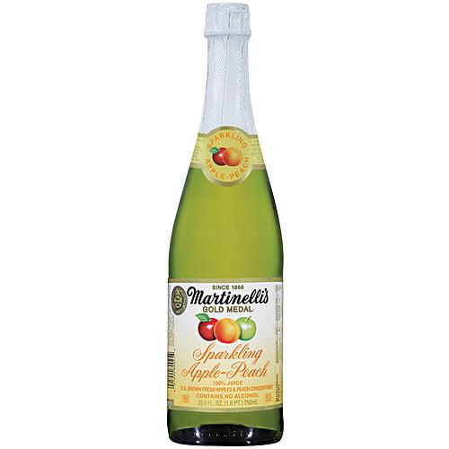 Martinelli's Gold Medal Sparkling Apple Juice, 25.4 fl oz (Pack of 6)