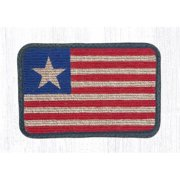 Capitol Importing 87-1032 Original Flag Wicker Weave Table Accent Runner Rug, 13 x 36 in.