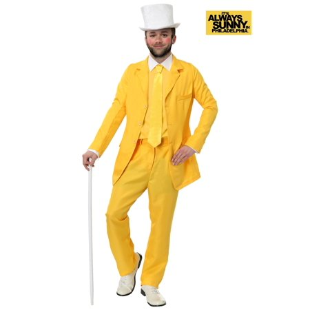 Always Sunny Dayman Yellow Suit (Green Man Costume It's Always Sunny)
