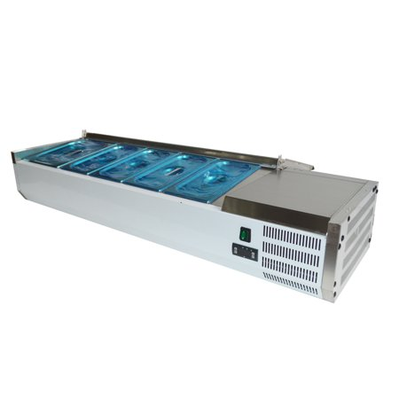 55''Refrigerated Countertop Sandwich Prep / Pizza Prep table 110V StainlessSteel ()