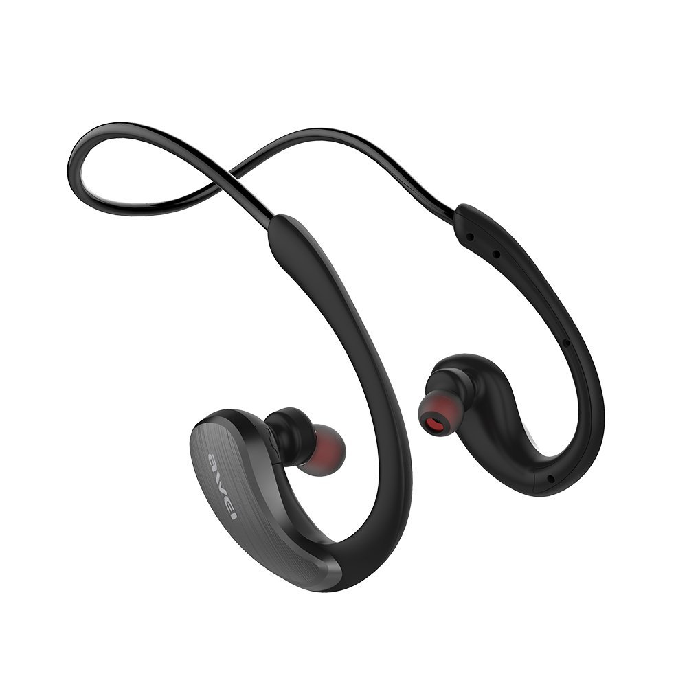 Wireless Waterproof Sports Earphones for Call and Music,NFC quick Pairing Bluetooth 4.1 Bluetooth Earbuds Sweat and Splash Proof with Superior Audio Performance Microphone Headset (BLACK)