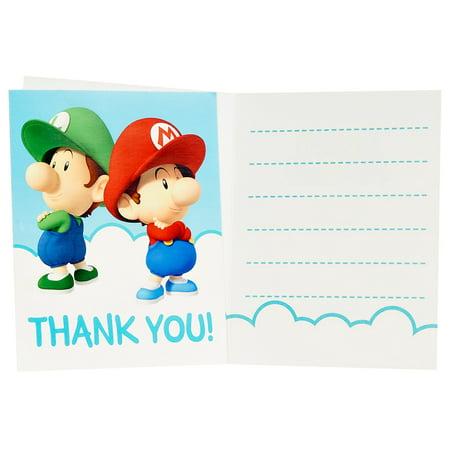 Super Mario Bros. Babies Thank-You Notes (8)](Super Mario Bros Party Ideas)