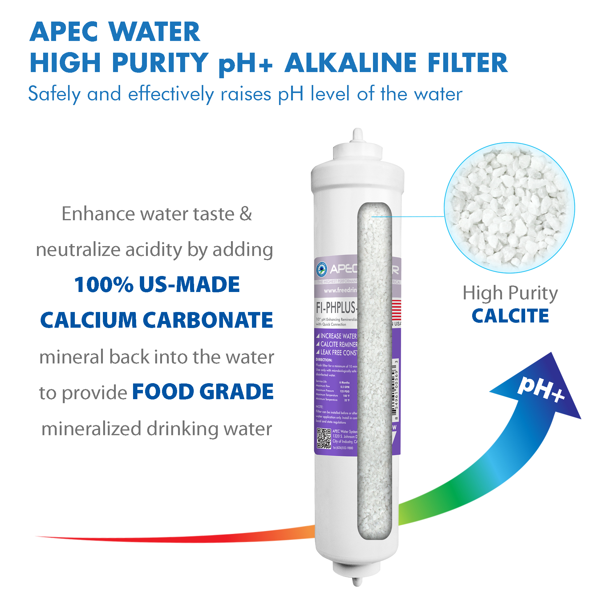 2/&4 APEC Water Systems FILTER-SET-CTOP-PH US Made Replacement Filter Set For Ultimate Series Countertop Alkaline Reverse Osmosis Water Filter System Stage 1