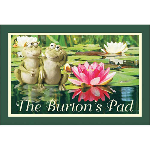 "Personalized Frog Couple Doormat 17"" x 27"""