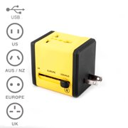 Minisuit International Travel Dual USB Adapter for Outlets in US UK EU AU