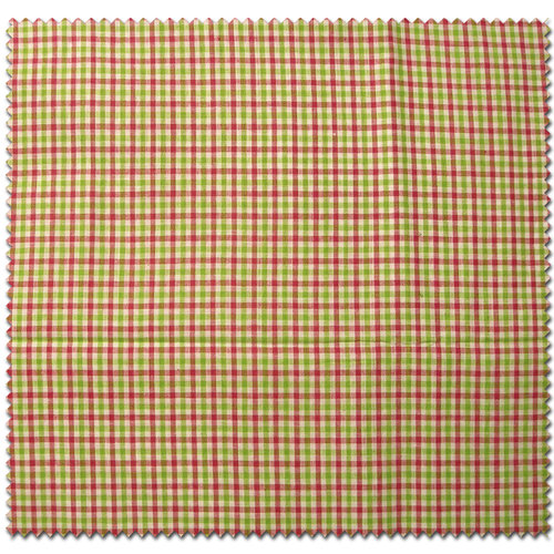 Textile Creations MA-134 Madras, 1. 8 in Check Fuchsia Lime White