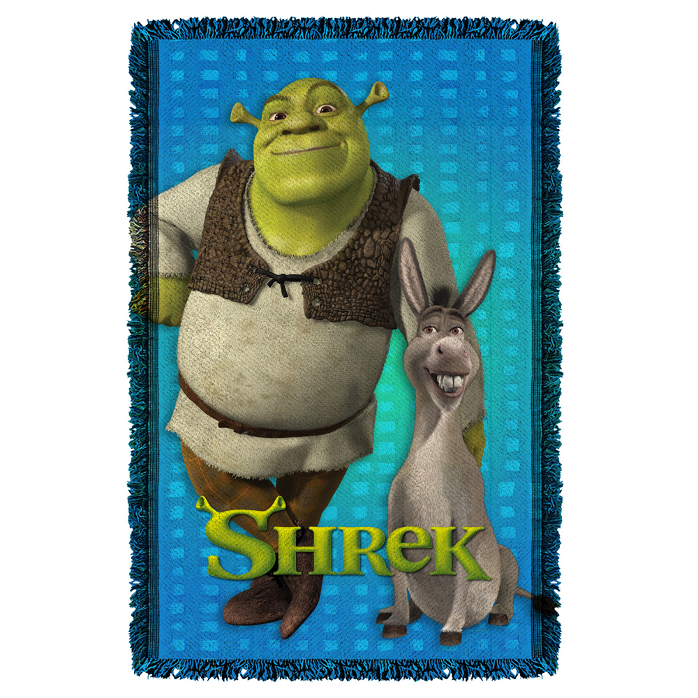 Shrek Pals Woven Throw Tapestry 36X60 White One Size