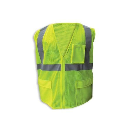 - Enguard LIME Poly Mesh Reflective Safety Vest, Class 2- 2XL