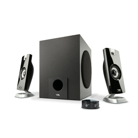 2 Piece Multimedia Speaker (Cyber Acoustics 18W 2.1 Multimedia Speaker System with Subwoofer)