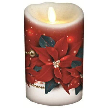 "Darice 11058 - 3.5""x 5"" Poinsettia Candle Wrap (Set of 2)"
