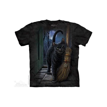 A Brush With Magic T-shirt The Mountain Black Adult Unisex 100% Cotton Short Sleeve