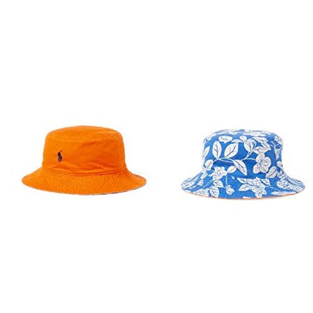 81e7ccd71dffd Polo Ralph Lauren Little Boy's Reversible Twill Bucket Hat Size 4-7 -  Walmart.com