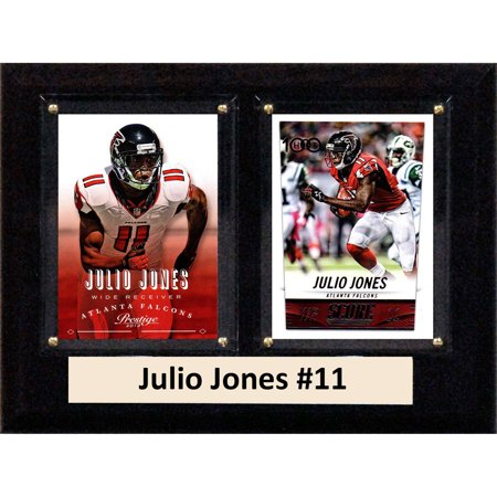- C&I Collectables NFL 6x8 Julio Jones Atlanta Falcons 2-Card Plaque