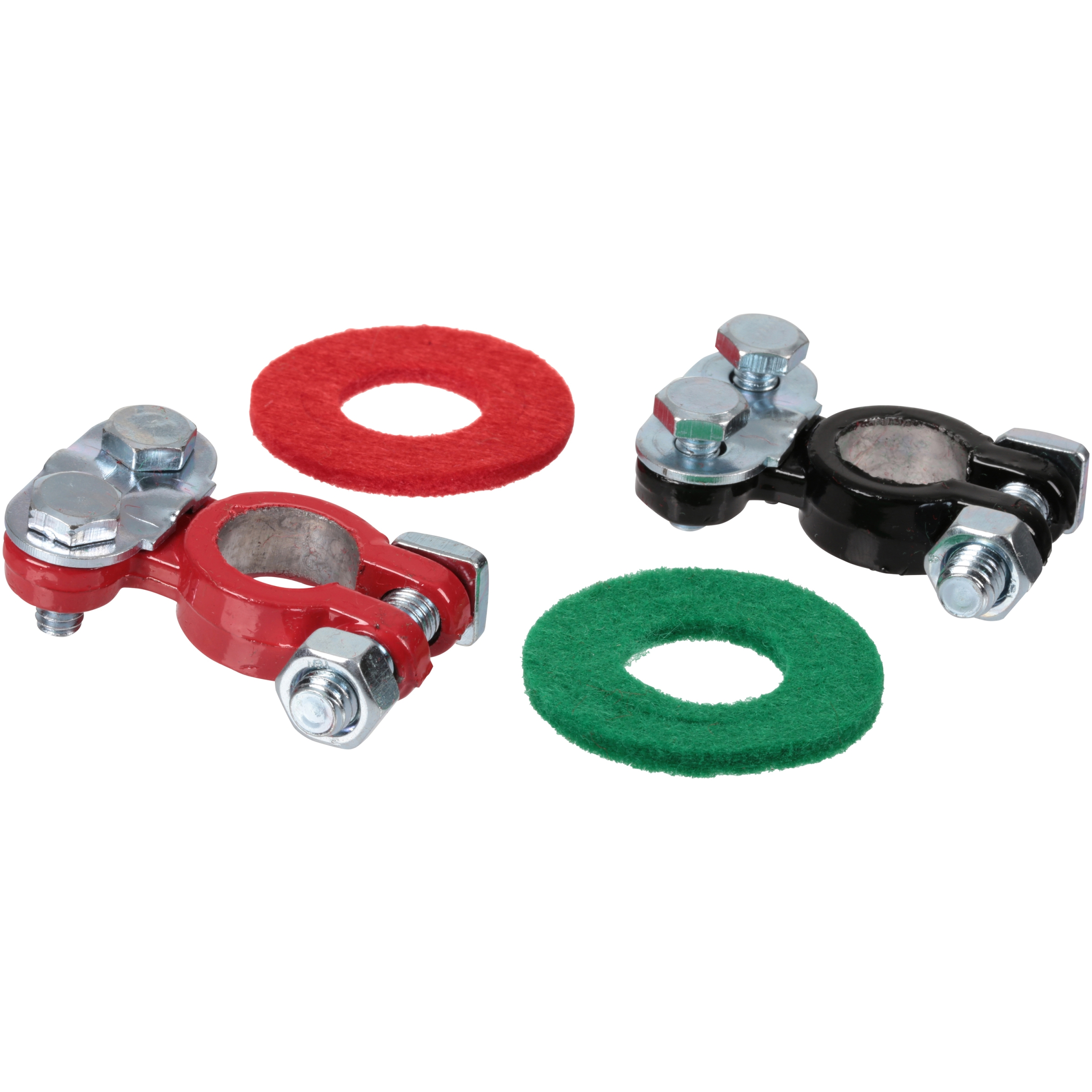 Schumacher® Electric Coated Top Terminals with Post Washers 2 ct Carded Pack