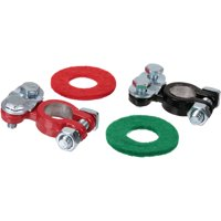 Schumacher Electric Coated Top Terminals with Post Washers 2 ct Carded Pack