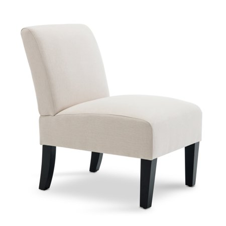BELLEZE Armless Contemporary Upholstered Single Curved Slipper Accent Chair Living Room Bedroom
