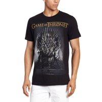 Game Of Thrones Black Men's Throne Tee Shirt