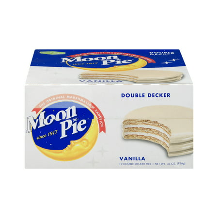 (2 Pack) Moon Pie Double Decker Pies Vanilla, 12.0 CT - Halloween Moonpies
