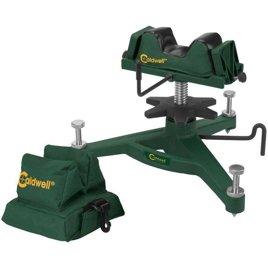 Caldwell 383640 Rock Front Shooting Rest Padded Rear Filled Canvas Bag Combo, Green