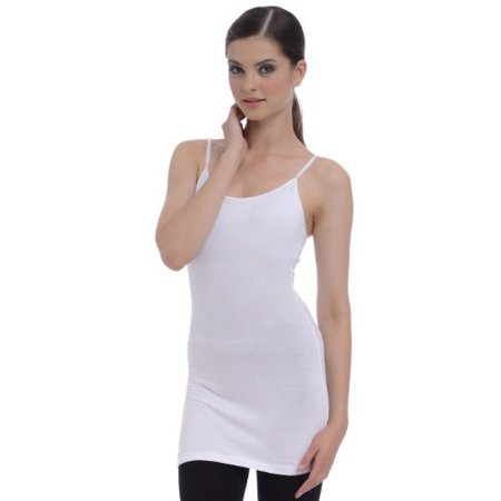 e2bfa81546e PacificPlex - Extra Long Shelf Bra Cotton Cami Tank Top - Walmart.com