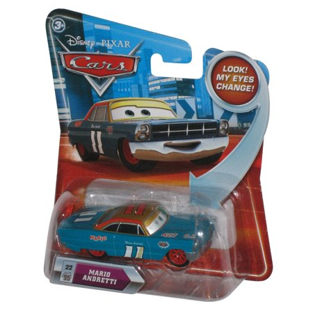 Disney Movie Cars Lenticular Eyes Change Mario Andretti Die Cast Toy Car #22 (Disney Color Changing Cars)
