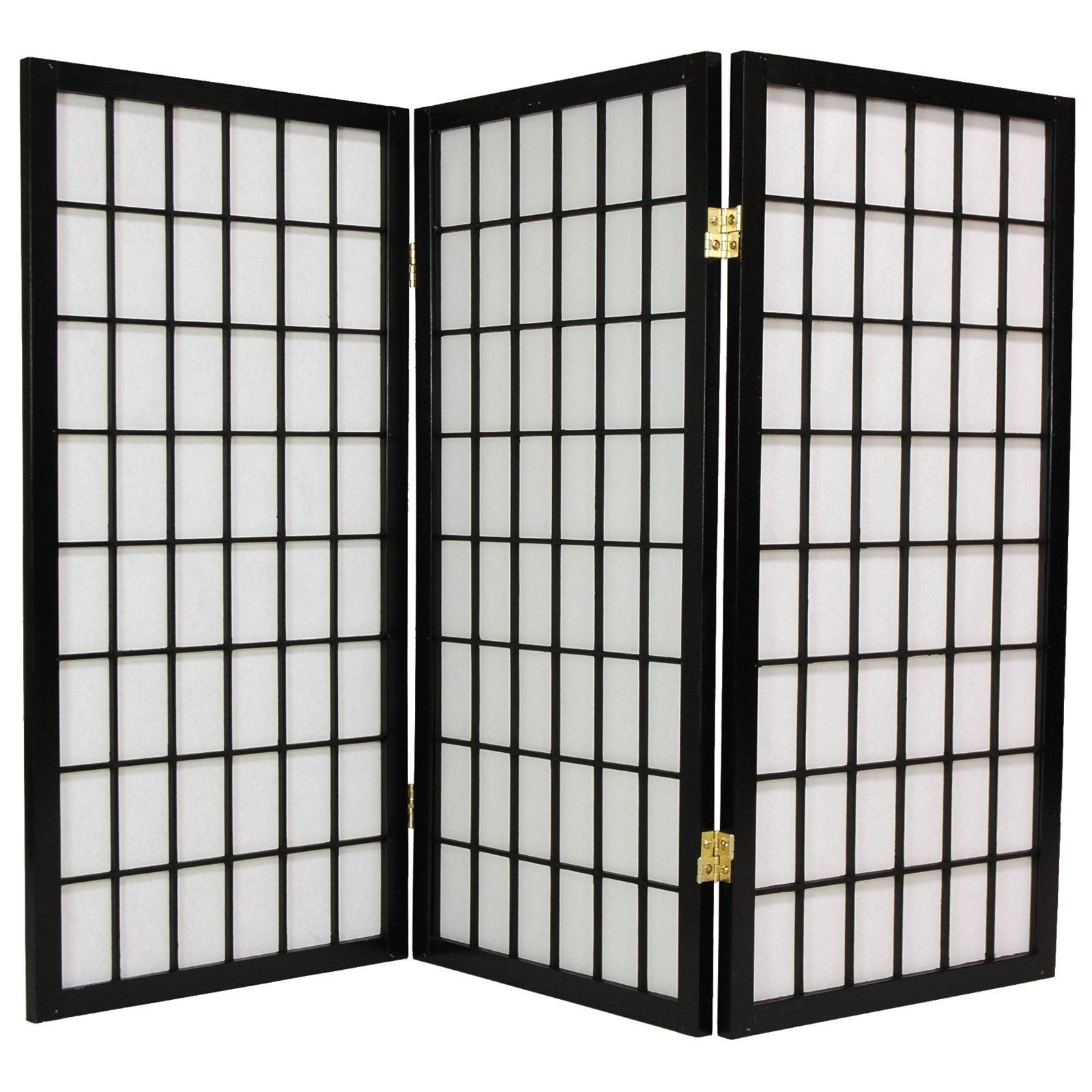 Oriental Furniture Window Pane 36 Inch Tall Shoji Room Divider