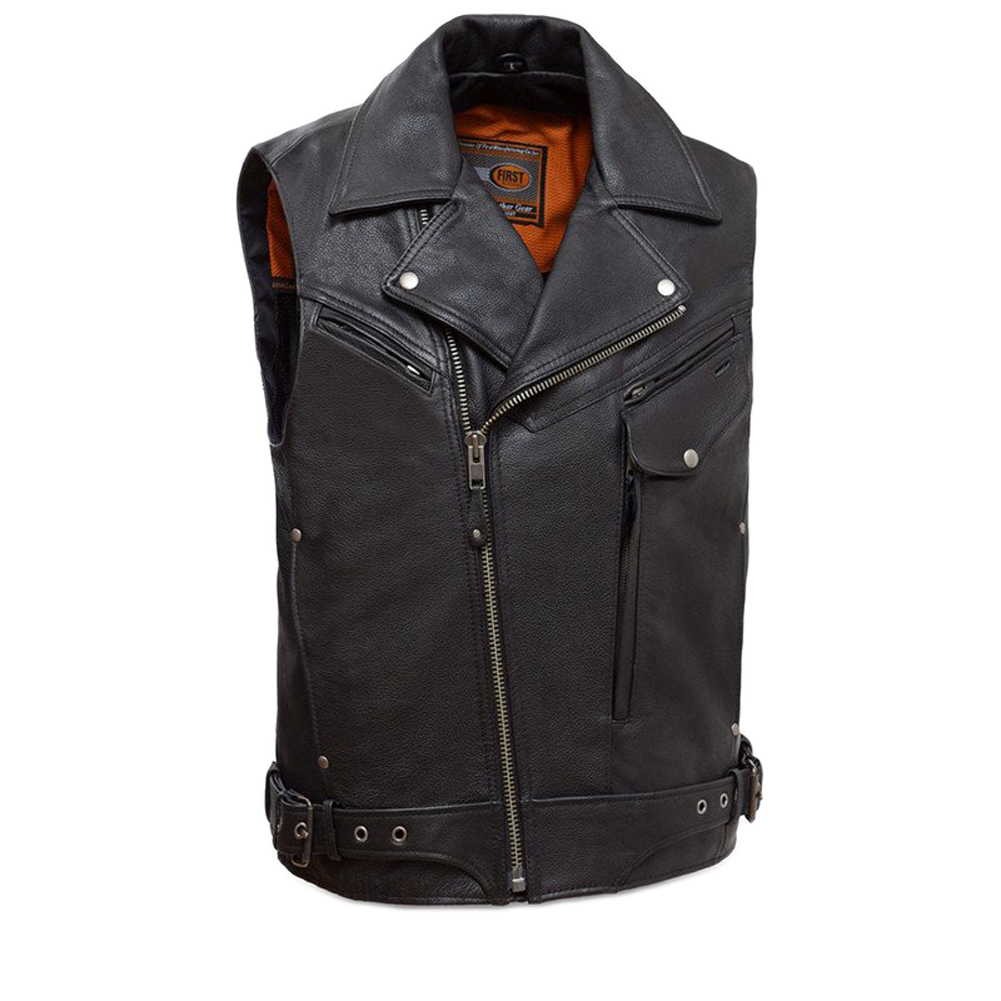 First Manufacturing Men's Reckless Outlaw Motorcycle Vest...