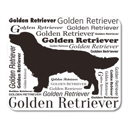 - KDAGR Brown Adorable Golden Retriever Silhouette Yellow Attractive Mousepad Mouse Pad Mouse Mat 9x10 inch
