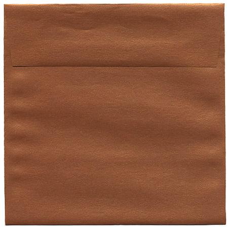Copper Jam (JAM Paper 6.5 x 6.5 Square Invitation Envelope, Copper Stardream Metallic, 50/pack )