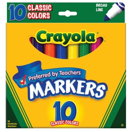 10 Count Classic Color Broad Line Markers