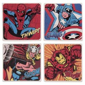 Vandor LLC Marvel Comics 4 pc. Ceramic Coaster Set