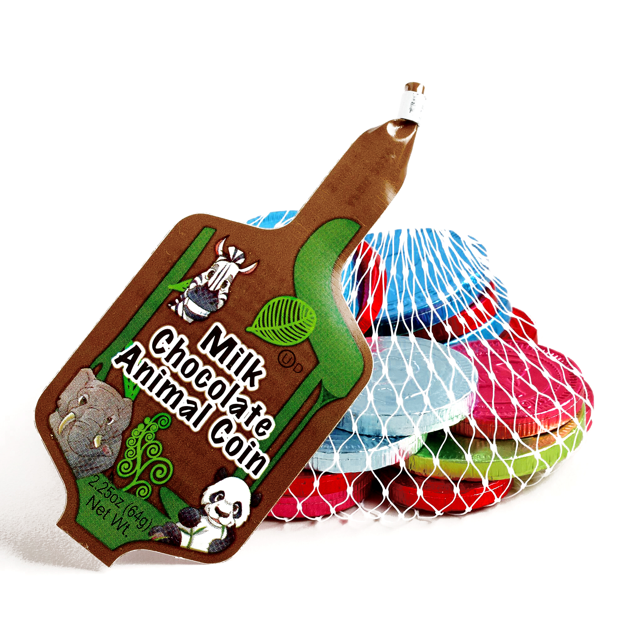 Steenland Mesh Bag of Chocolate Animal Coins  4 oz each (...