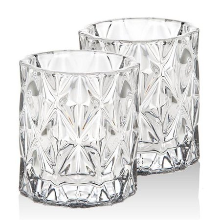 Crystal Votive Candle Holder Pair, Serenade Crystal, Shannon Godinger