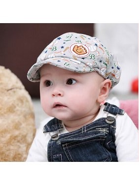 c0b392f29ad Product Image Outtop Baby Boy Girl Kid Toddler Infant Hat Peaked Baseball  Beret Cap Grey