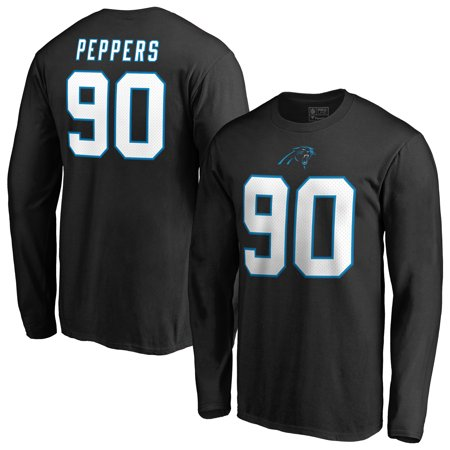 huge discount fa987 a389d Julius Peppers Carolina Panthers Fanatics Branded Authentic Stack Name &  Number Long Sleeve T-Shirt - Black