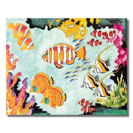Angel Clown Fish in Exotic Ocean Coral Reef Wall Picture 8x10 Art Print
