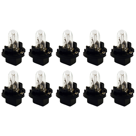Box of 10 Bulbs PC74 Lamp Bulb Auto Lightbulbs Automotive 14V 1.4W with PCB Base