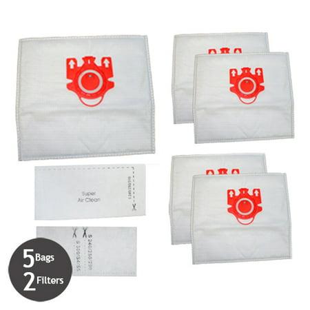 7291640 Miele FJM Vacuum Deluxe 5 Cloth Bags & 2 Filters (Miele Vacuum Bags Fjm)