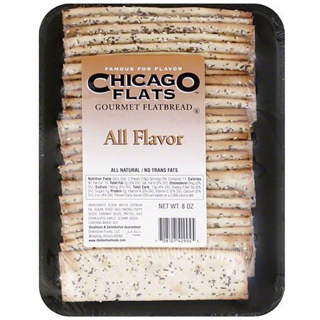 Chicago Flats All Flavor Flatbreads, 8 oz (Pack of 10) (Pepper Flatbread)
