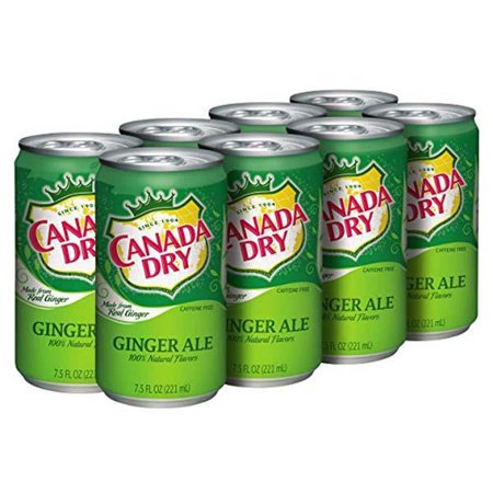 Canada Dry Ginger Ale 7 5 Oz Cans   Pack Of 24