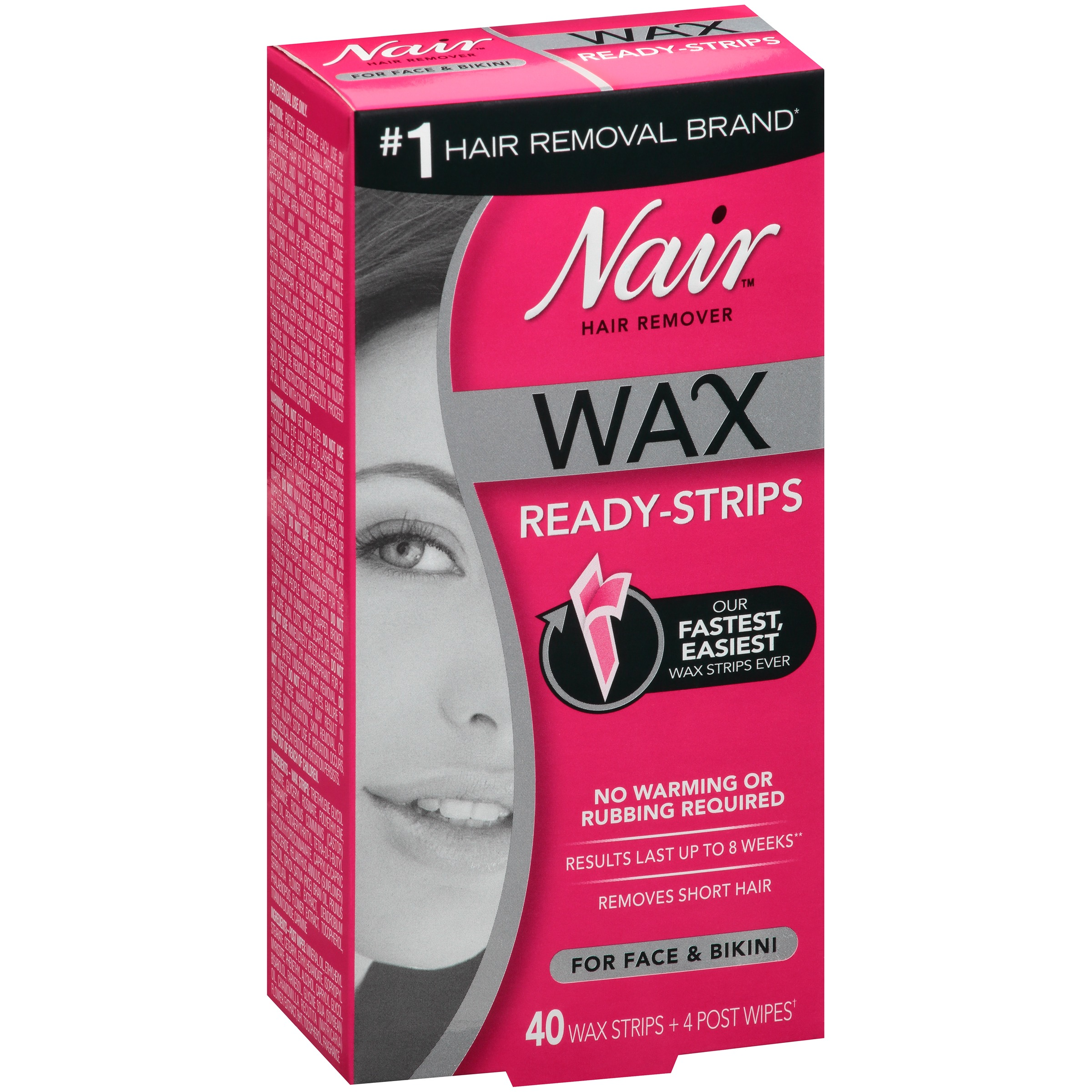 Nair wax ready strips hair remover for face bikini 40 ct box nair wax ready strips hair remover for face bikini 40 ct box walmart solutioingenieria Image collections