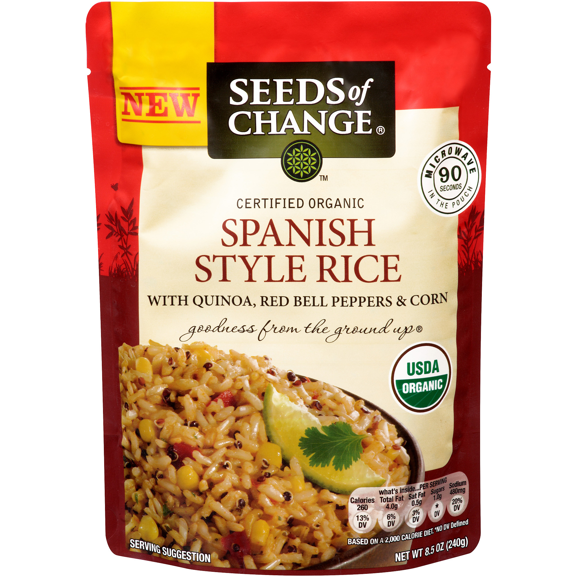 Seeds of Change Spanish Style Rice with Quinoa, Red Bell Peppers & Corn, 8.5 oz