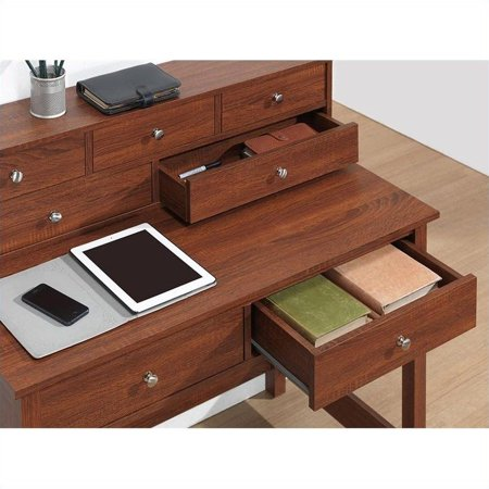 Techni Mobili Elegant Desk Hall Table with Storage in Oak - image 1 de 4