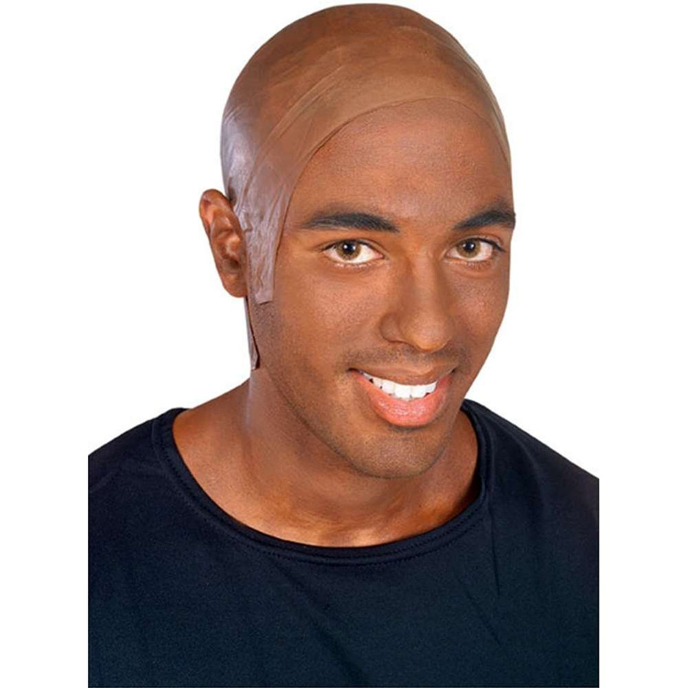 Bald Head Cap Dark Latex Flesh Skin African American Mens Costume Brown Adult - Walmart.com  sc 1 st  Walmart & Bald Head Cap Dark Latex Flesh Skin African American Mens Costume ...