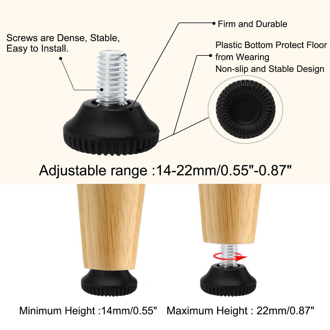 M6 x 20 x 25mm Adjustable Leveling Feet Floor Protector for Table Leg 24pcs - image 3 de 7