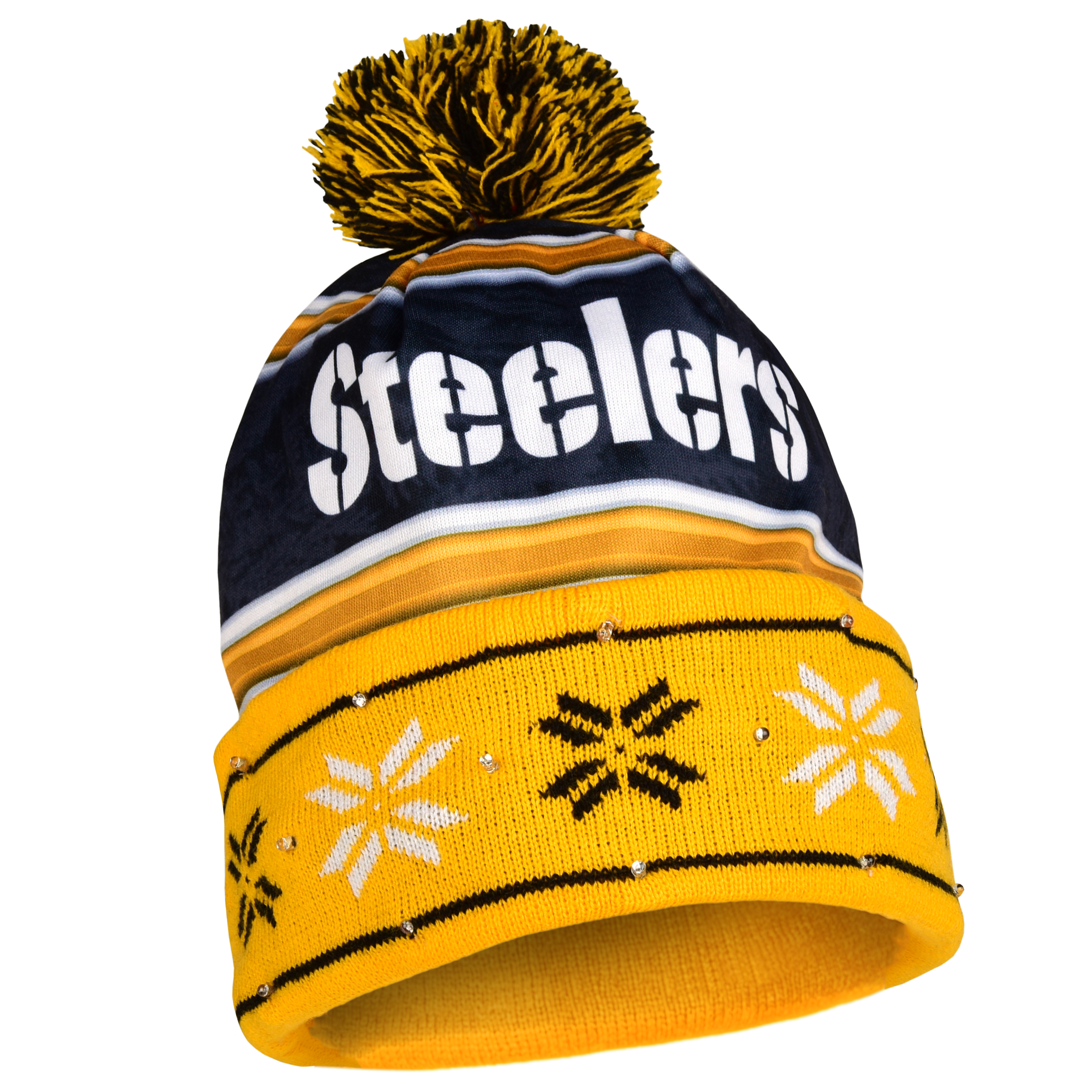 Pittsburgh Steelers Official NFL Team Beanie Stocking Str...
