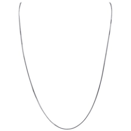 (Gem Avenue Italian 925 Sterling Silver Diamond-Cut Snake Chain Solid 1mm Necklace Made in Italy)