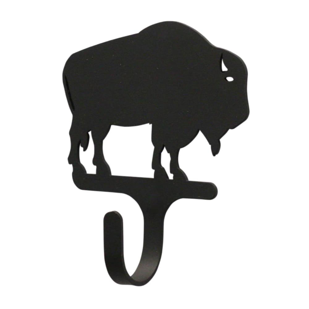 Luxury Home Buffalo Black Wrought Iron Magnetic Hook