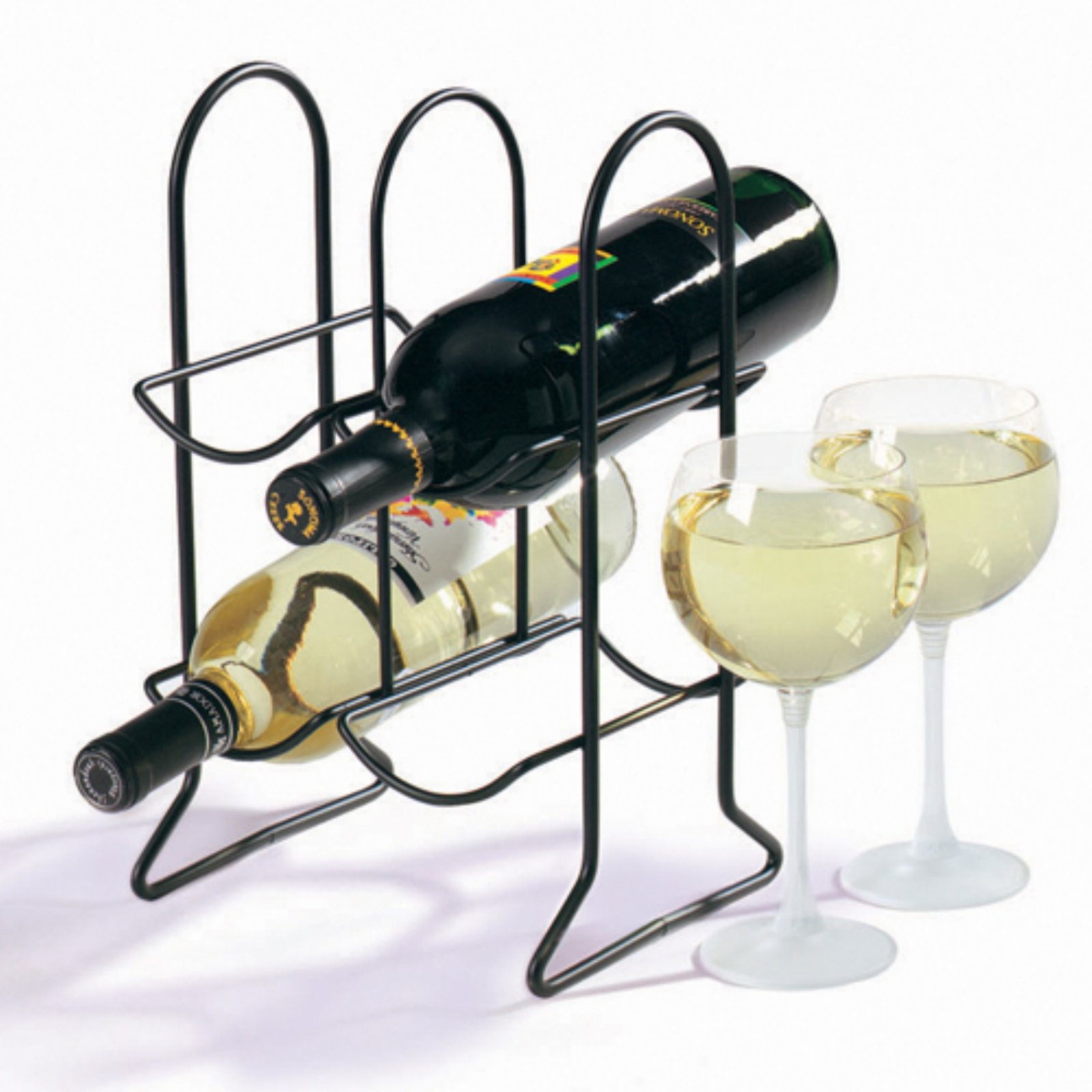 Townhouse 6-Bottle Wine Rack Black by Spectrum